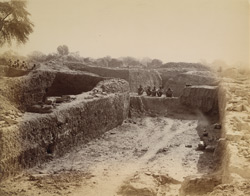 General view of excavations of the Jain stupa at Kankali Tila, Mathura